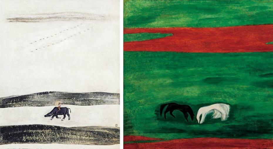至於常玉的风景画来看, 常玉早期的风景画在色彩与构图上也显得较为