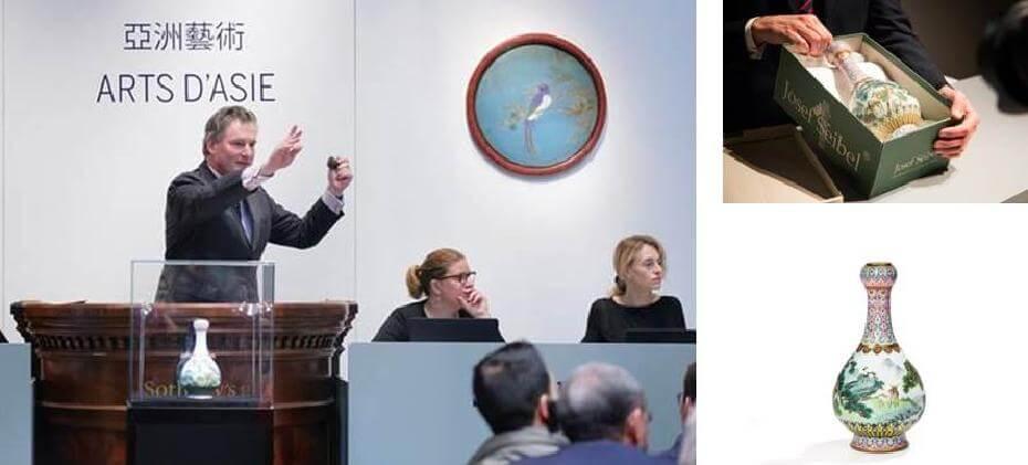 蘇富比刷新中國瓷器於法國拍賣紀錄。圖/蘇富比提供