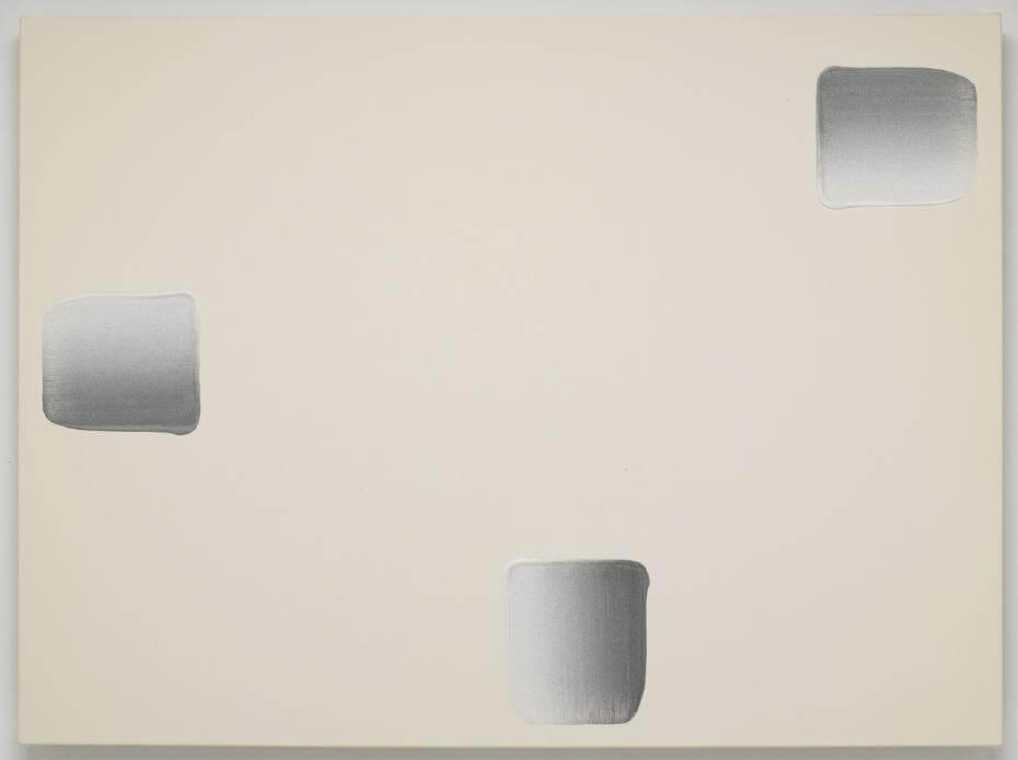 Lee Ufan,《Dialogue》,2011。鍾經新收藏品。圖/鍾經新提供。