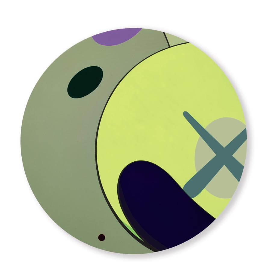 .KAWS,《溜之大吉》(Make the Run),壓克力畫布,2012。圖/蘇富比提供。