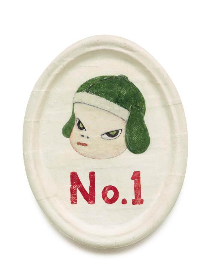 奈良美智,《No.1》,壓克力棉布裱於強化玻璃纖維,1996。圖/蘇富比提供
