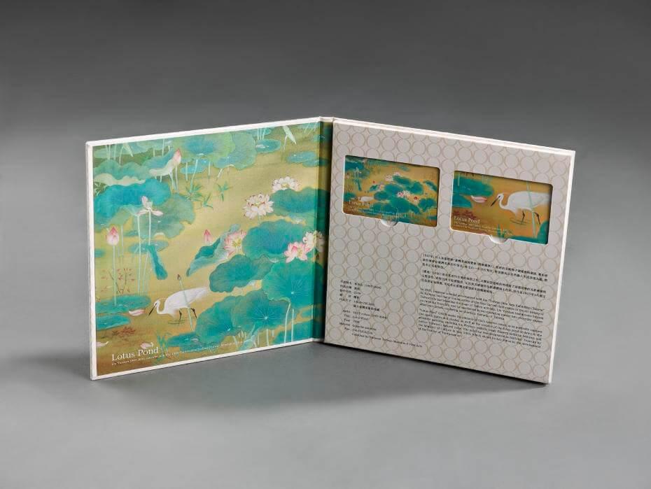 國美館首度與悠遊卡公司合作,推出國寶林玉山《蓮池》悠遊卡。圖/國立台灣美術館提供。