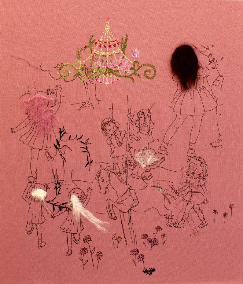 張恩慈,《小女孩-1》。圖/誠品畫廊提供。