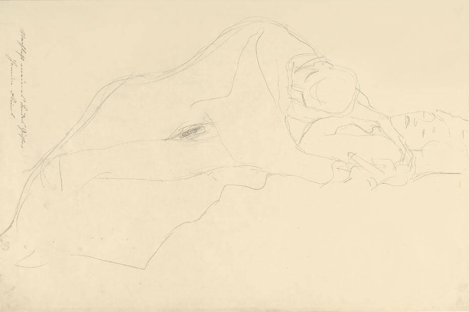 Gustav Klim,《The Lovers》,1913 。圖取自大都會博物館。