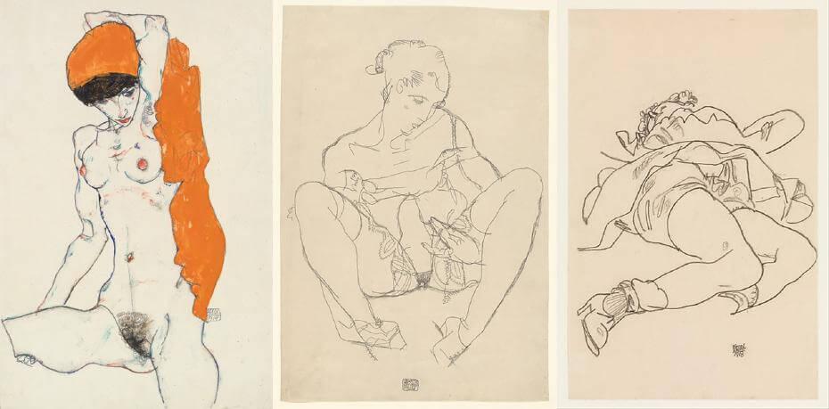 Egon Schiele。圖取自大都會博物館。