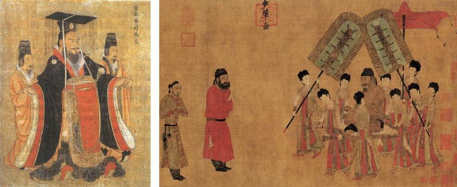 唐代 閻立本|歷代帝王圖(局部)、步輦圖(局部)