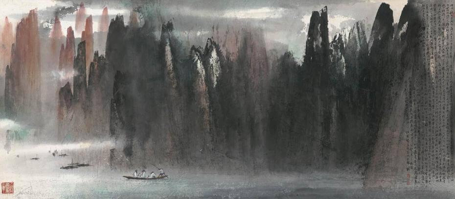 江明賢|赤壁賦 215x95cm