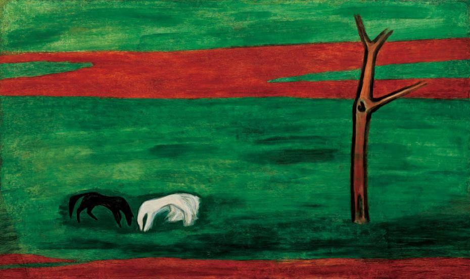 常玉|黑白雙馬(藝術微噴)