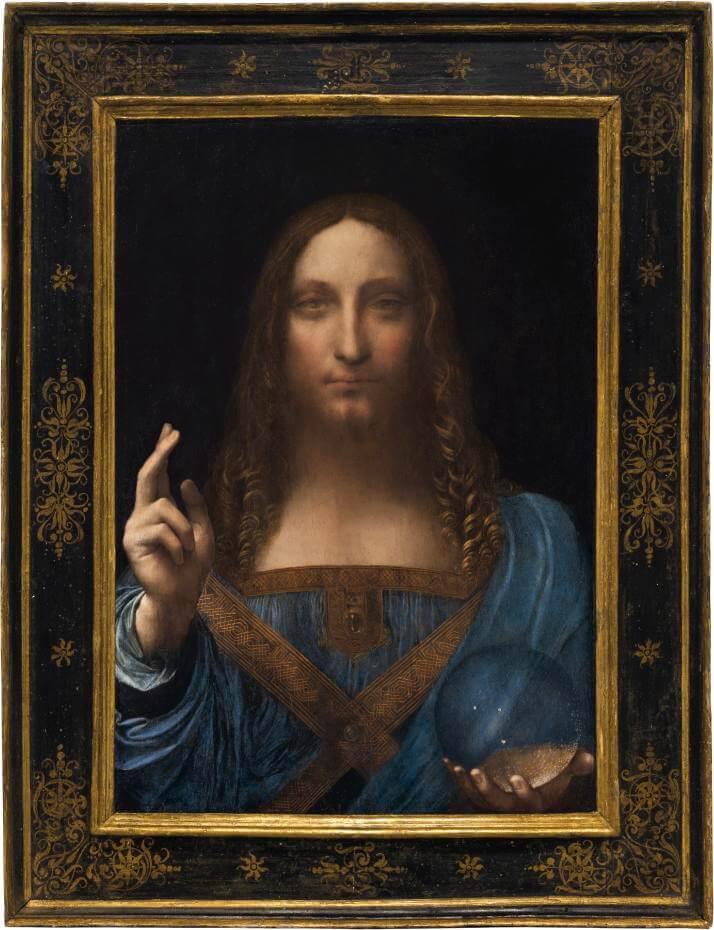 達文西,《Salvator Mundi》。圖/取自WIKEMEDIA。