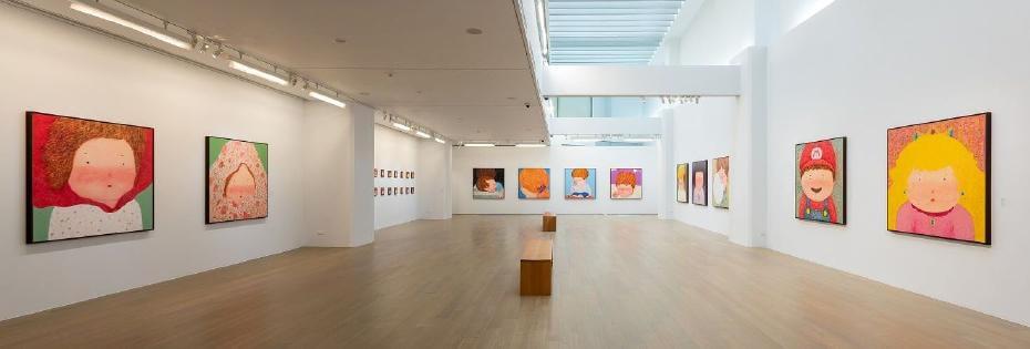 尊彩藝術中心,理想的世界-羅喬綾個展。圖/非池中藝術網攝。