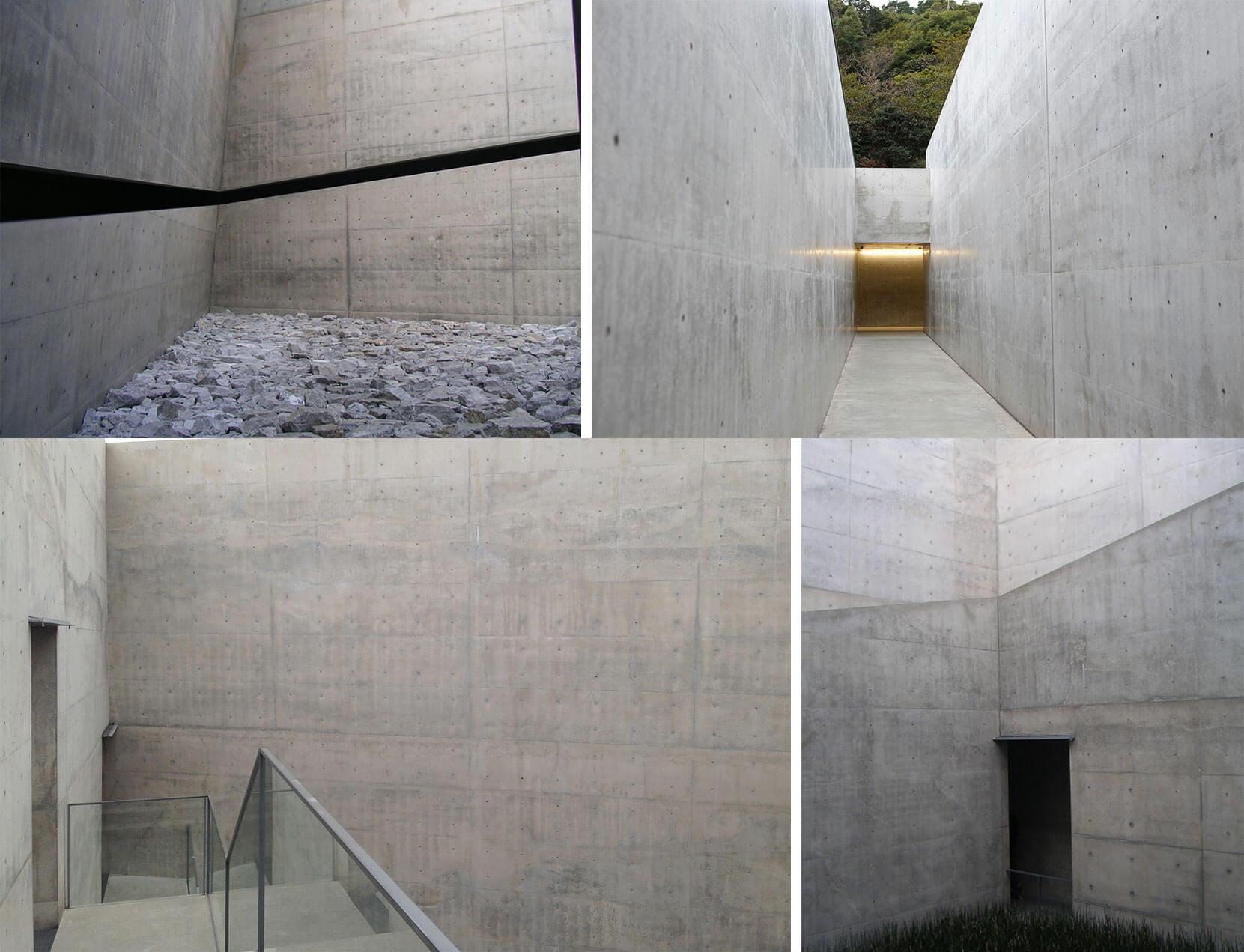 地中美術館(外觀與內部照片),安藤忠雄
