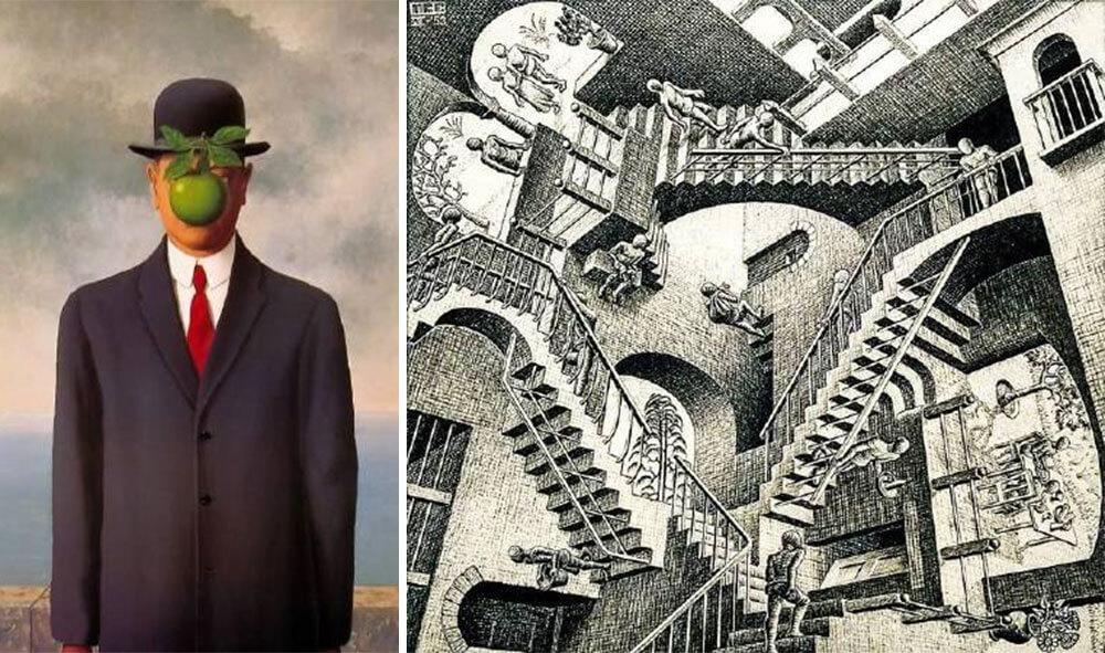 M.C. Escher、René Magritte