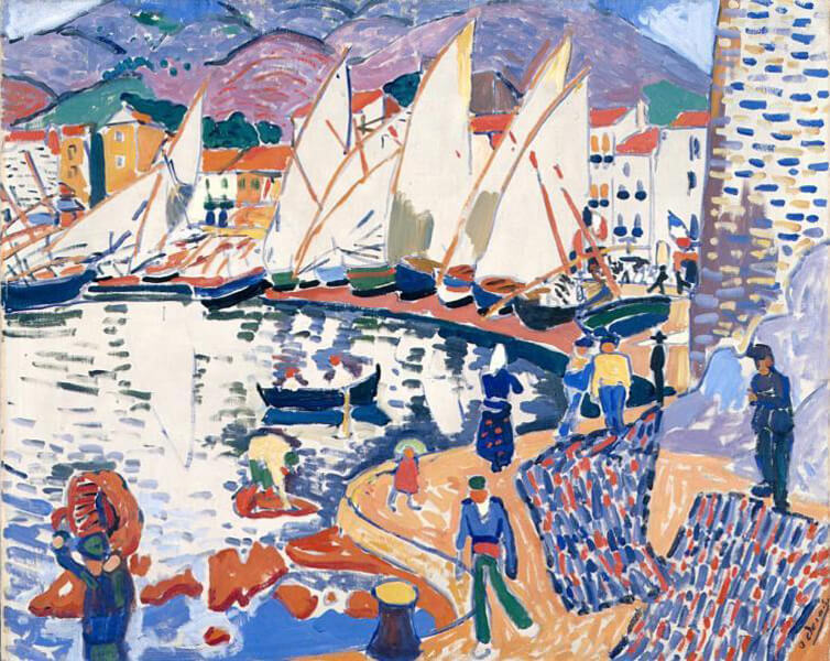 André Derain,《 Le séchage des voiles(The Drying Sails)》。圖/取自wikipedia。