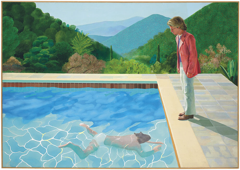 大衛•霍克尼(David Hockney),《Portrait of an Artist (Pool with Two Figures)》,1972。圖/佳士得提供。