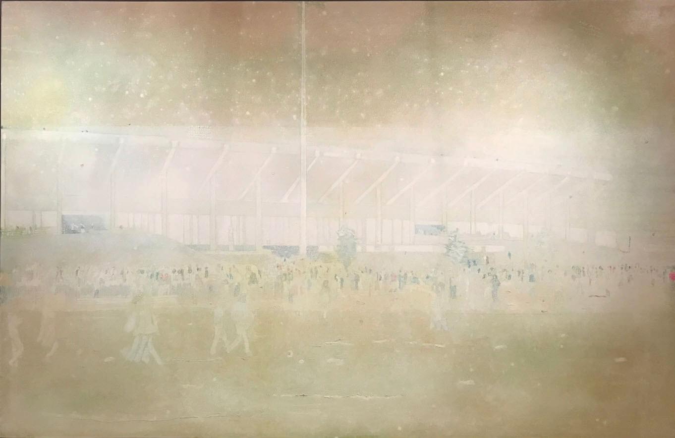《布法羅車站II》,油彩畫布,1997-1998。圖/詔藝 攝。