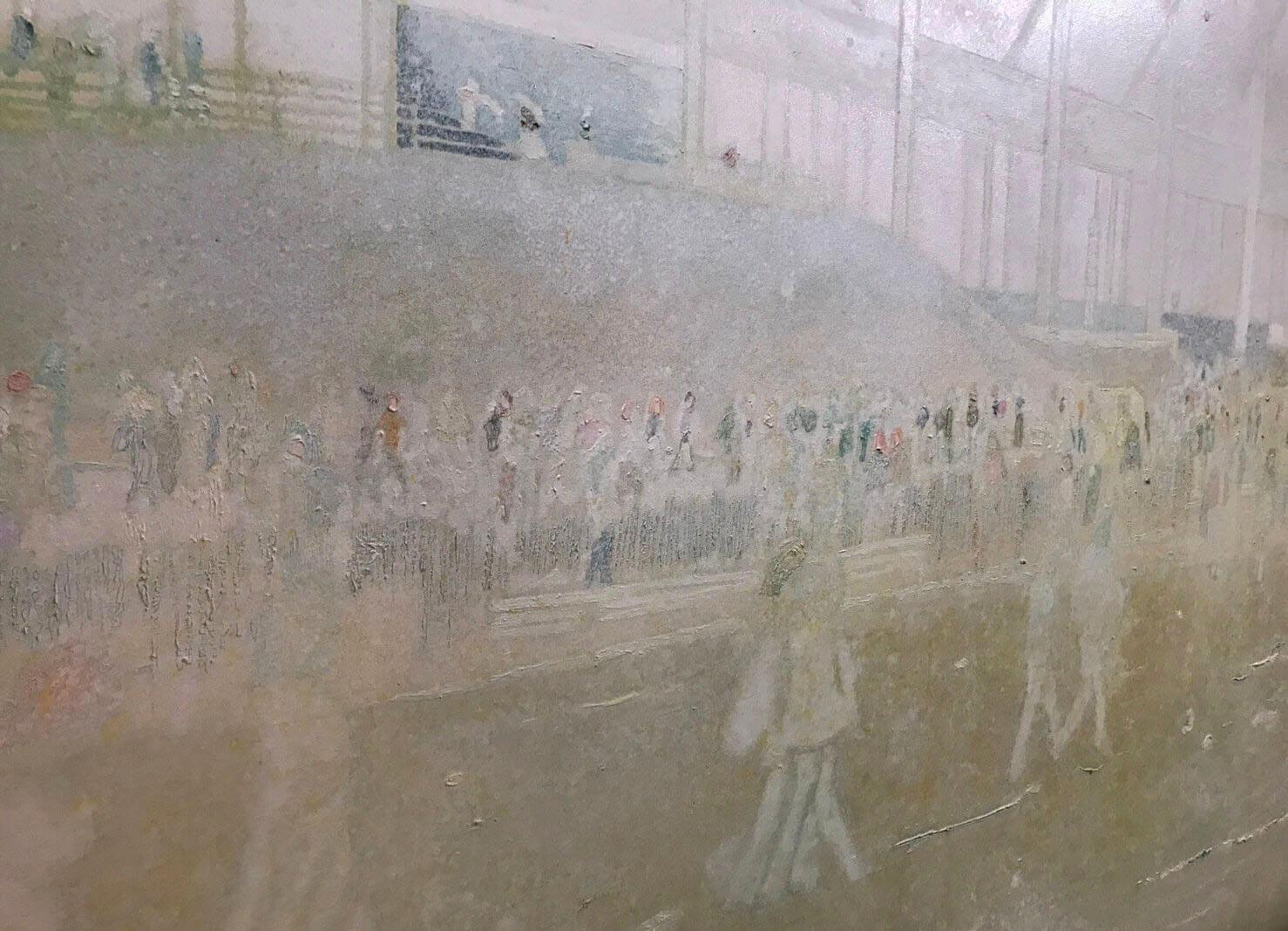《布法羅車站II》畫作細部。圖/詔藝 攝。