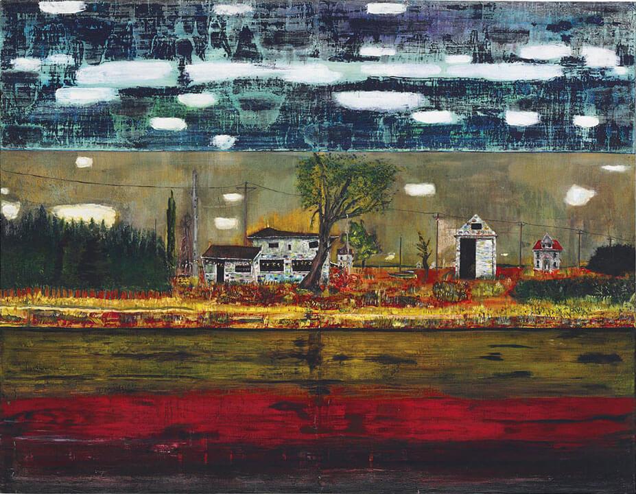 Peter Doig,《Road House》,1991。圖/佳士得提供。