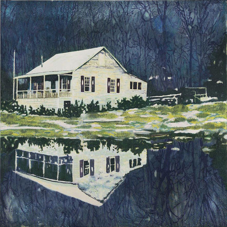 Peter Doig,《Camp Forestia》,1991。