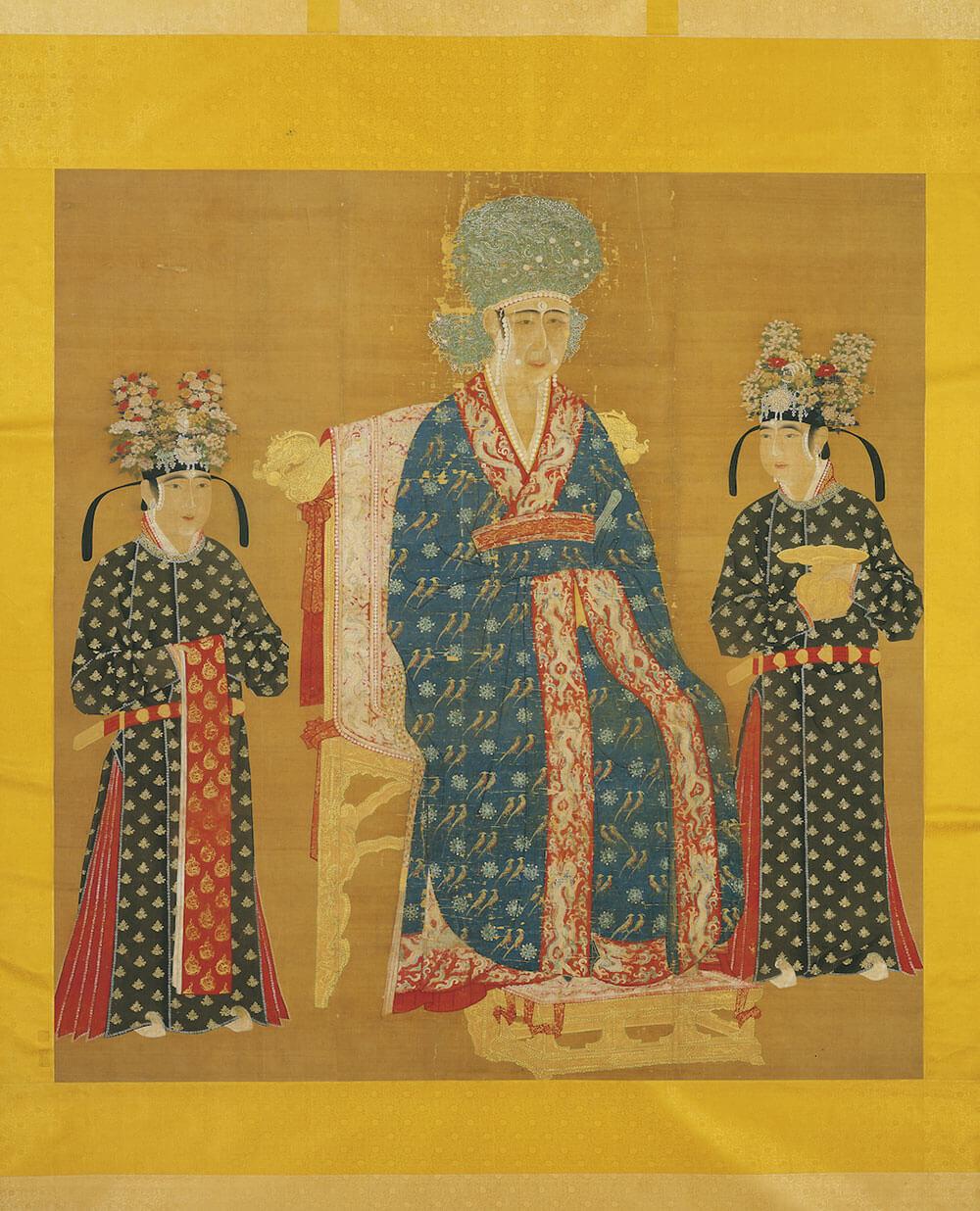 《宋仁宗后坐像》軸。圖/故宮博物院提供。