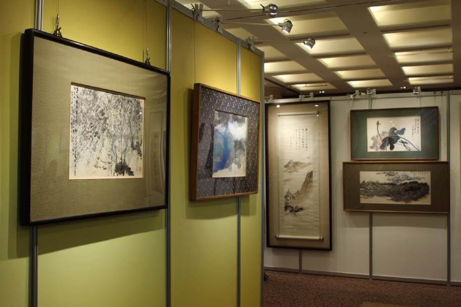 本次近現代書畫家吳昌碩、傅抱石、黃賓虹、潘天壽、溥心畬精品皆以高價成交。圖/帝圖藝術拍賣提供預展圖片。