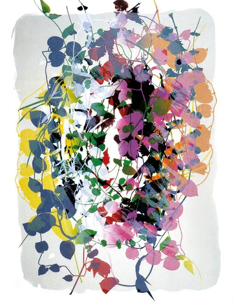 鐘有輝,《白色心情》,60x40 cm,絹印、紙張,2000。圖/有璽藝術空間提供。