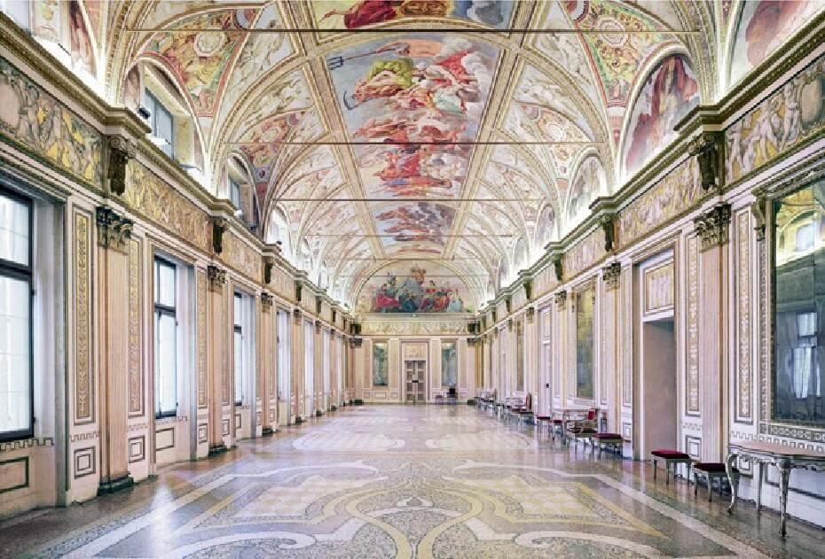 Candida Höfer。《Palazzo Ducale Mantova I》,2011。