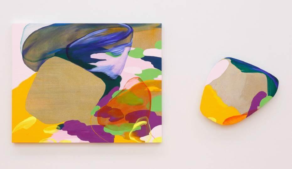 流麻二果,《拼圖之中  第一號》,油彩畫布, 2016。