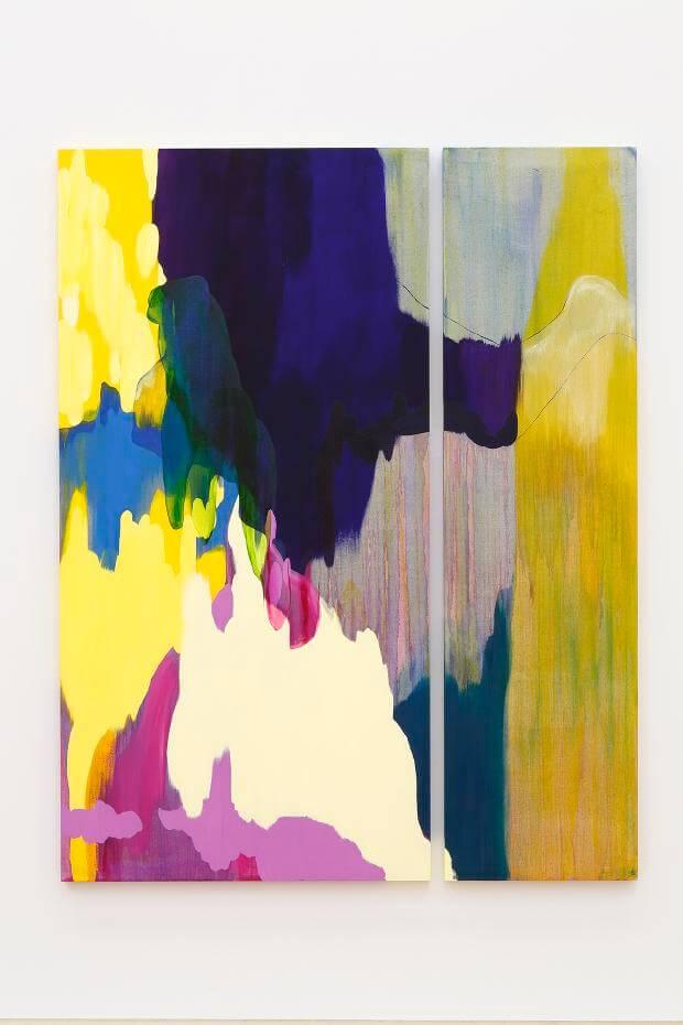 流麻二果,《彈性的立場》,油彩畫布,2016。