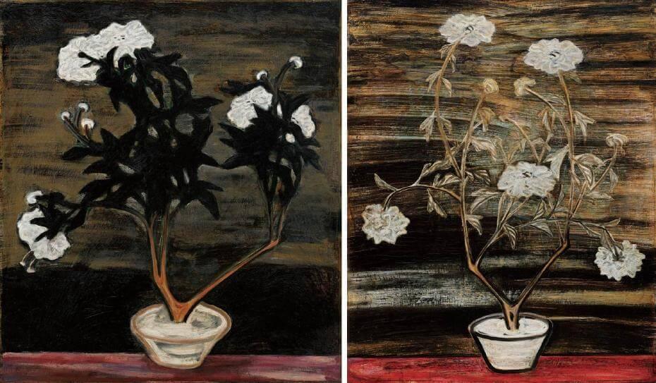 常玉|花(藝術微噴);常玉|白花盆景(藝術微噴)
