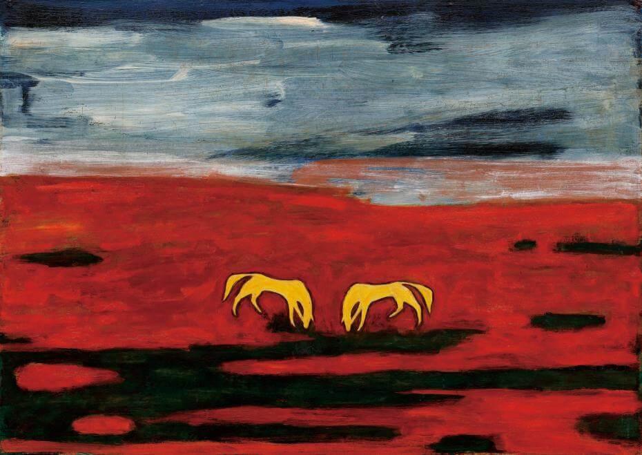 常玉|雙馬(藝術微噴)