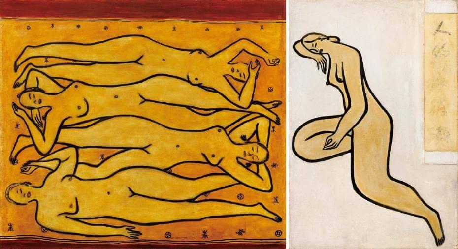 常玉|四女裸像(藝術微噴);常玉|人約黃昏後(藝術微噴)