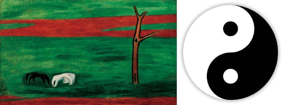 常玉|黑白雙馬(藝術微噴);太極圖