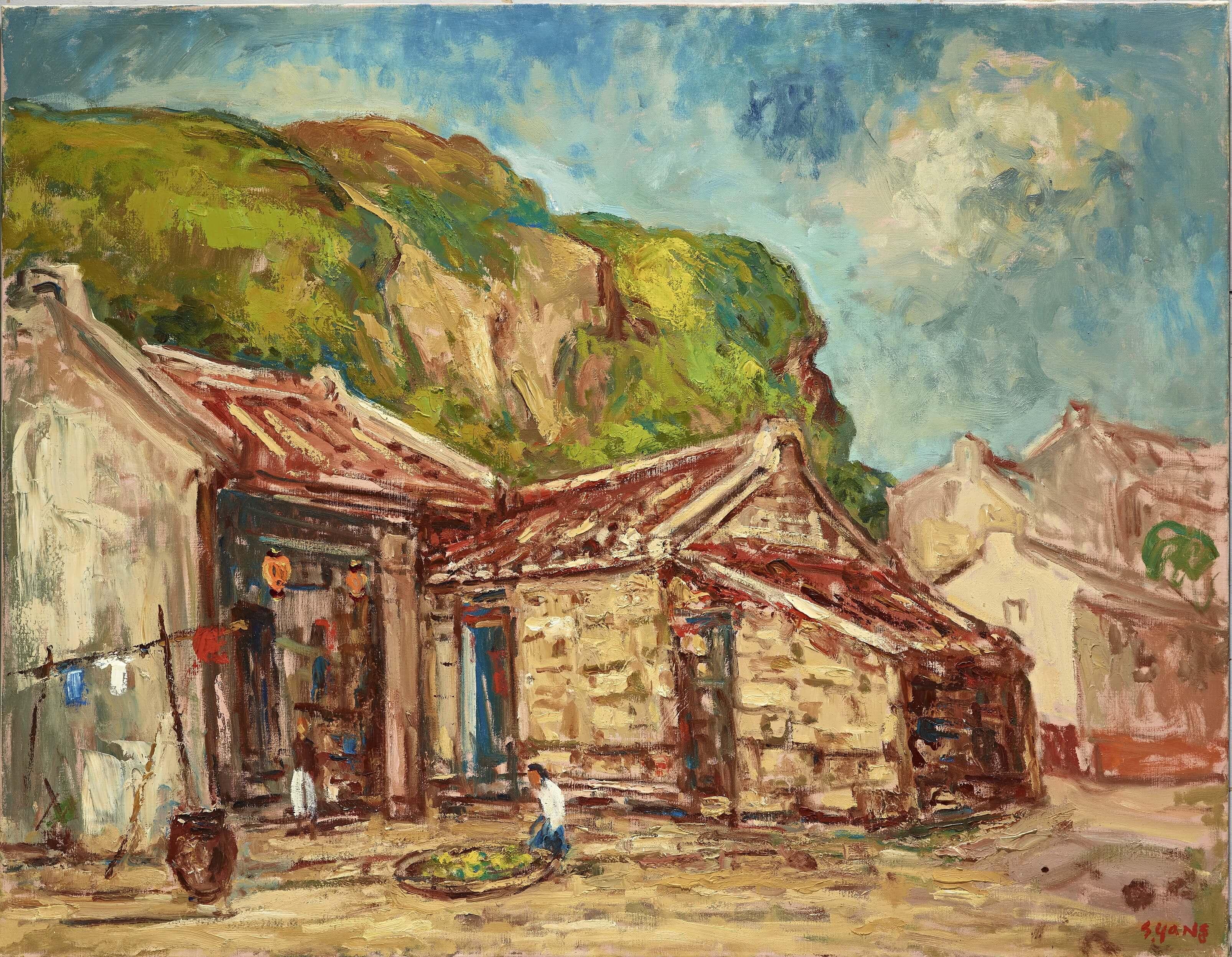楊三郎-野柳漁村