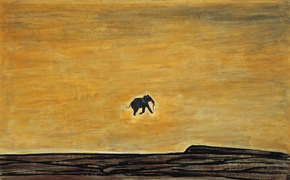 常玉最後作品|奔跑的小象(1966)