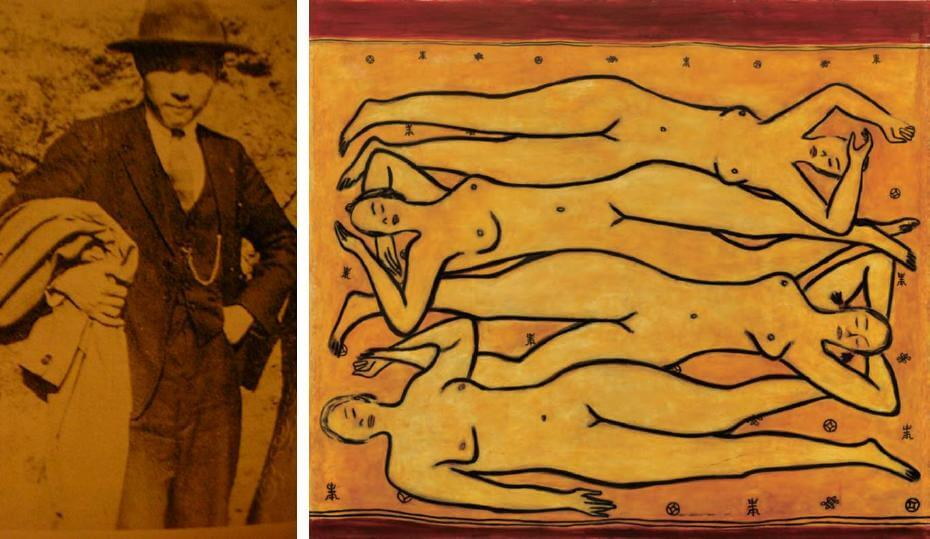 常玉的巴黎生活照;常玉|四女裸像(藝術微噴)
