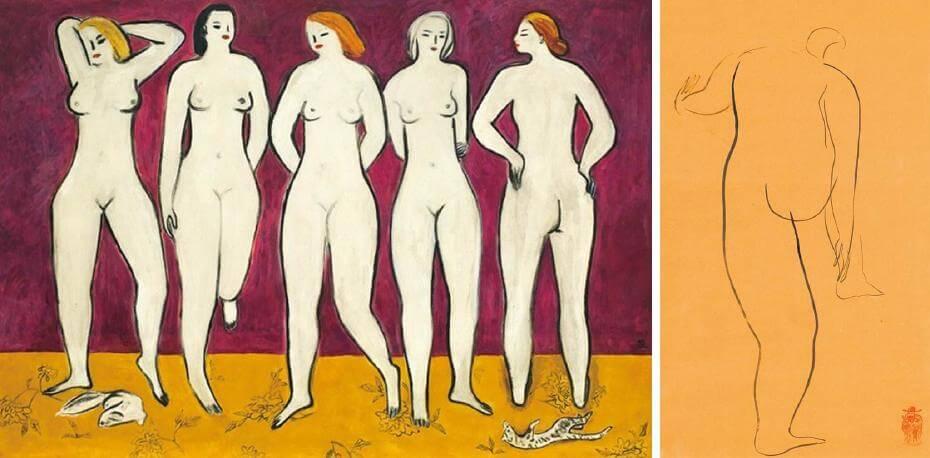 2011年常玉《五裸女》以4.7億台幣拍出成交;常玉簡單的裸女素描也經常以上百萬台幣拍出