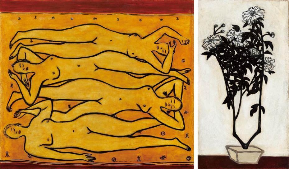 常玉|四女裸像(藝術微噴);常玉|菊(藝術微噴)