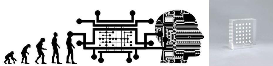 人類開始直立行走而將手解放出來後又數度經歷了奇點般的進化;達米恩赫斯特|Ho Ho Ho 6.5x7.5x3cm