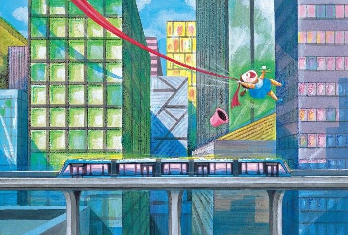 從幾米繪本到艾瓦奇公共藝術 淡海輕軌綠山線《閉上眼睛一下下》呈現城市新美學